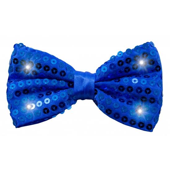 Verkleedstrikje met LED lichtjes blauw