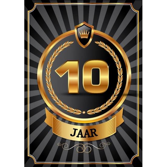 Versiering 10 jaar poster deluxe