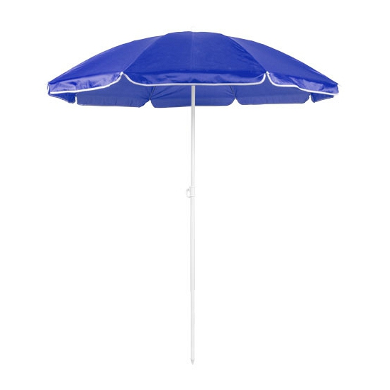 Verstelbare blauwe parasol