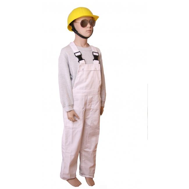 Verstelbare tuinbroek voor kids wit