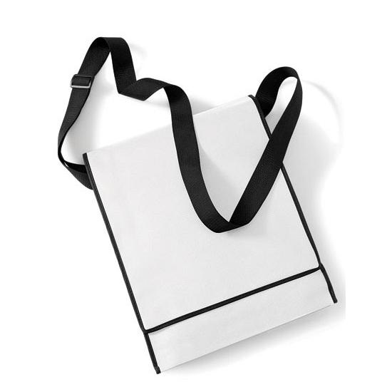 Verticale witte schoudertas