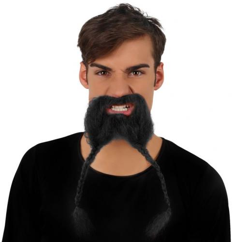 Viking snor   baard met vlechtjes