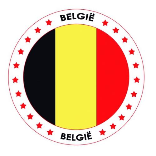 Viltjes met Belgie vlag opdruk