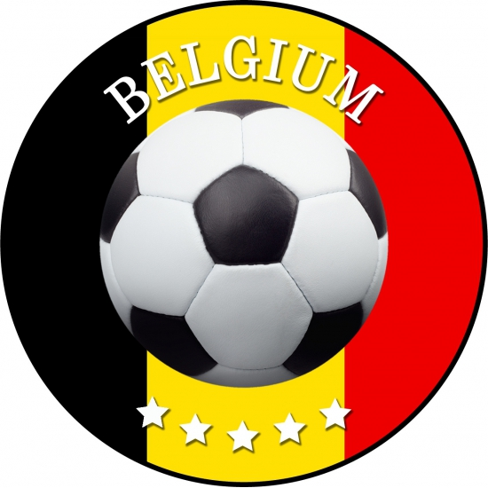 Viltjes met Belgie voetbal opdruk