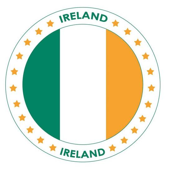 Viltjes met Ierland vlag opdruk