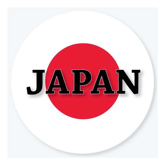 Viltjes met Japan vlag opdruk