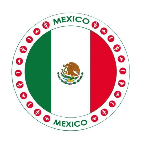 Viltjes met Mexicaanse vlag opdruk