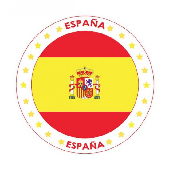 Viltjes met Spanje vlag opdruk