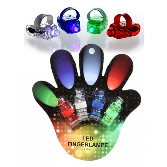 Vinger LED lichtjes 4 stuks