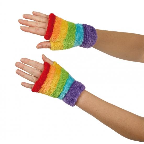 Vingerloze handschoenen gekleurd