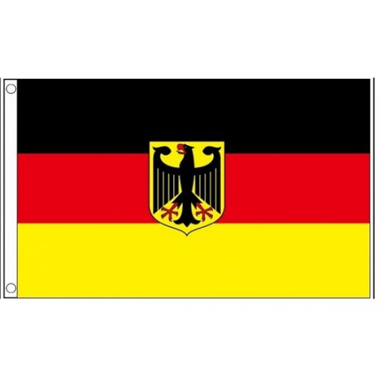 Vlag Duitsland met adelaar 150 x 90 cm