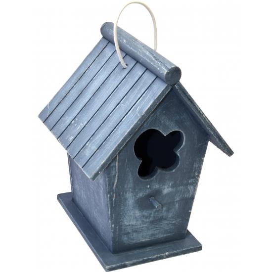 Vogelhuisje vintage blauw 24 cm