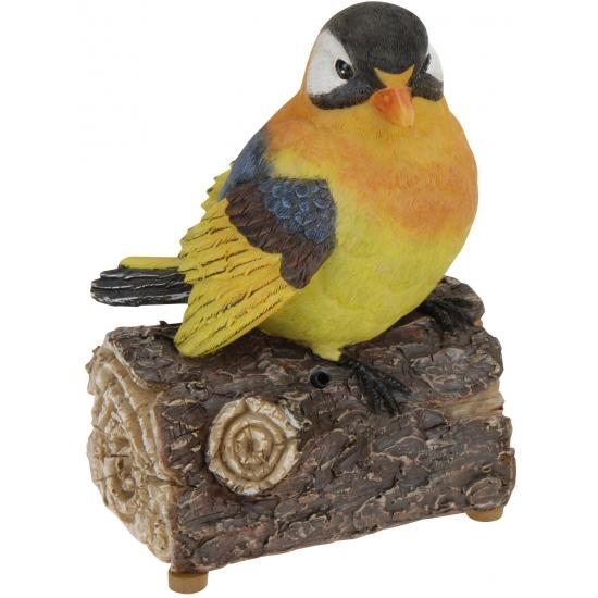 Vogeltje met geluid oranje/geel