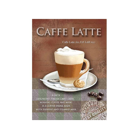 Wand decoratie Caffe Latte 15 x 20 cm