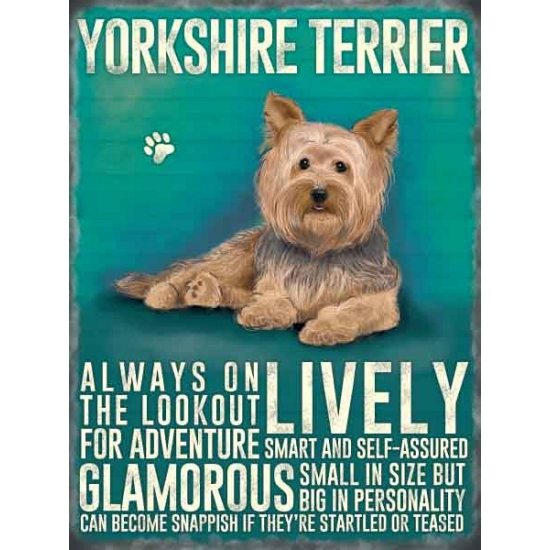 Wand decoratie Yorkshireterrier