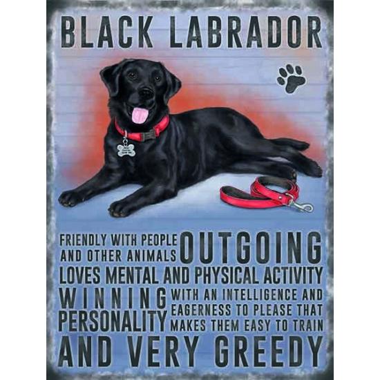 Wand decoratie zwarte Labrador