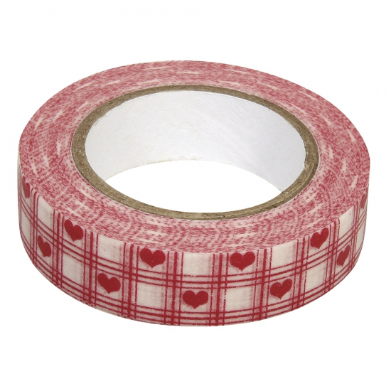 Washi tape rode hartjes