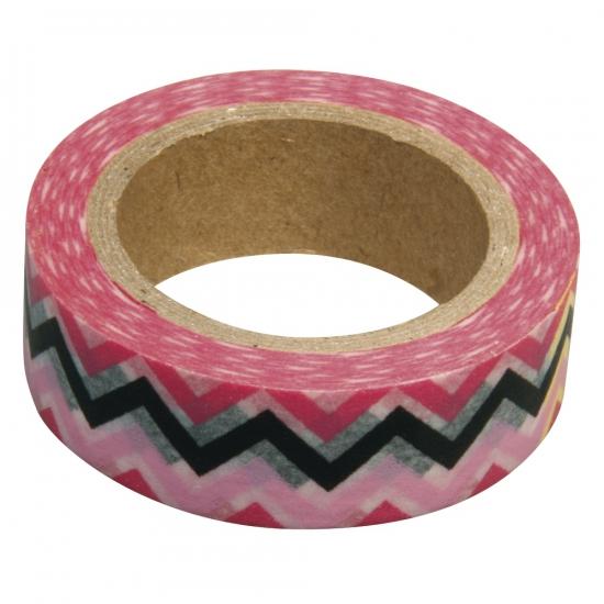 Washi tape zigzag roze