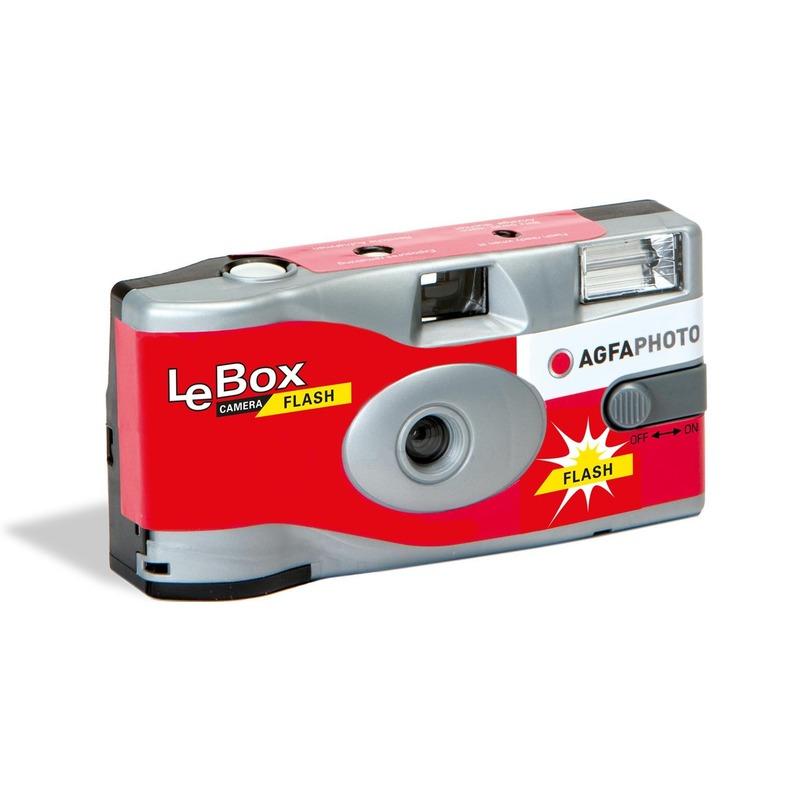 Wegwerp AgfaPhoto LeBox 400  camera met flitser