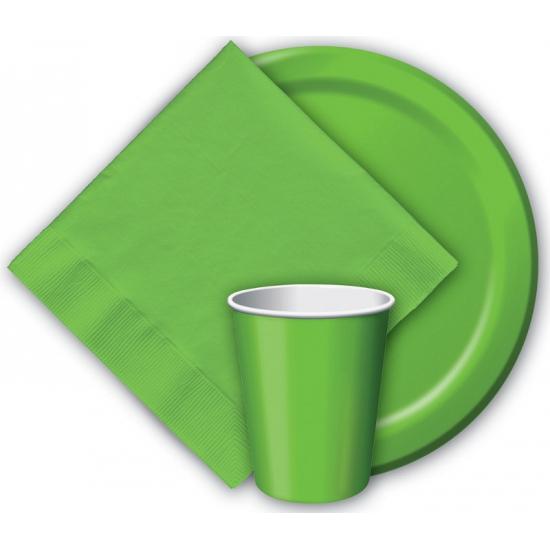 Wegwerp borden groen 23 cm