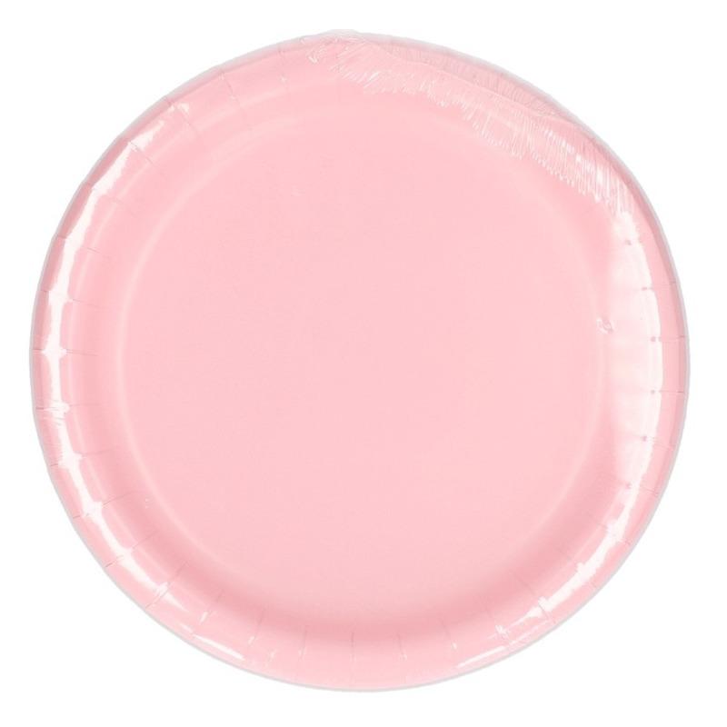 Wegwerp borden lichtroze 23 cm