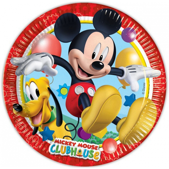 Wegwerp bordjes Mickey Mouse 10 stuks