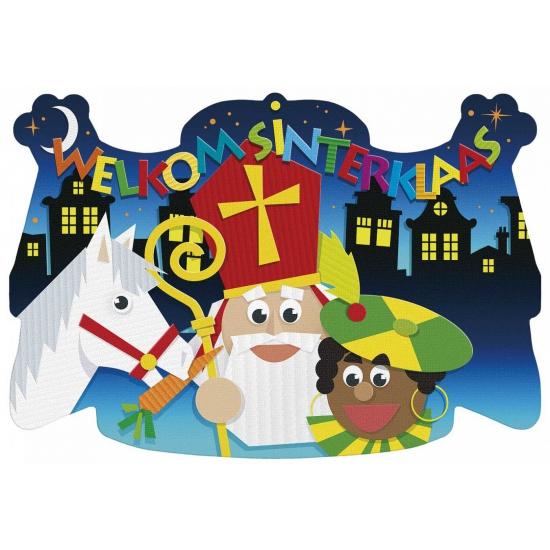 Welkom Sinterklaas kroonschild