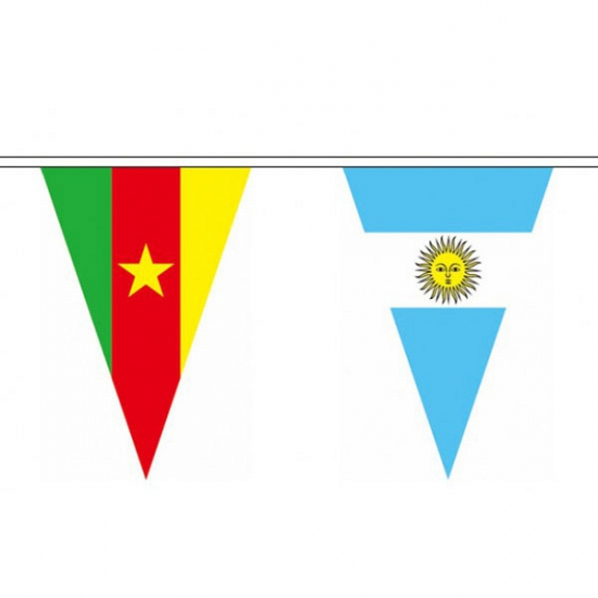 Wereld vlaggenlijn 11 meter
