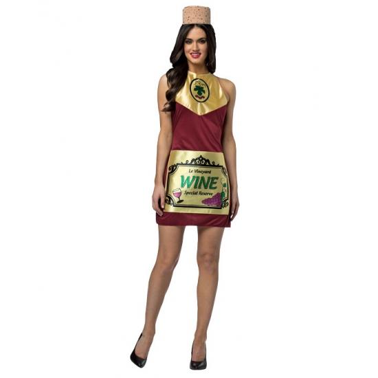 Wijnfles outfit voor dames