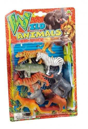 Wilde dieren speelgoed 8 stuks
