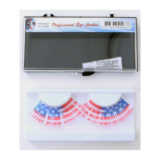 Wimpers met de vlag van USA