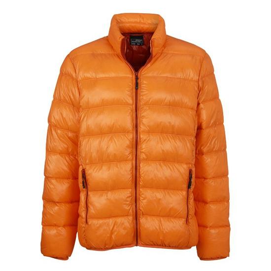 Wind en waterafstotende oranje herenjas
