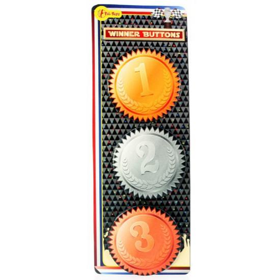 Winnaar medaille buttons
