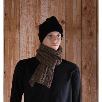 Wintersjaals grijs bruin