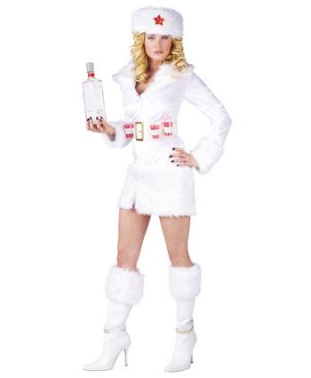 Wit dames jurkje met nep bont