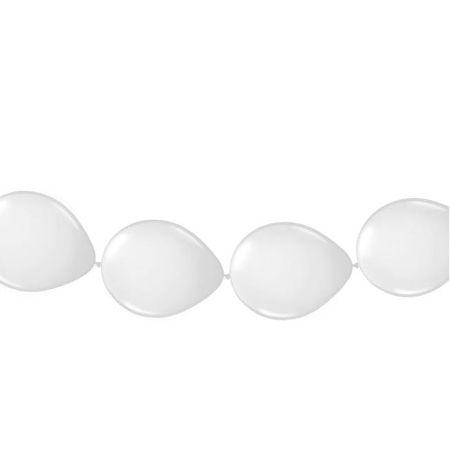 Witte ballonslingers 3 meter
