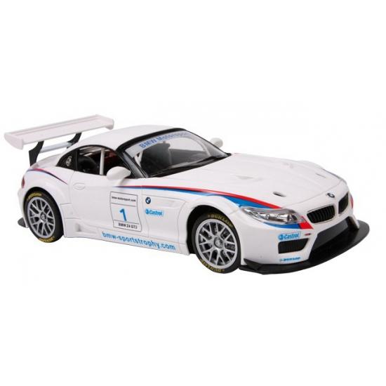 Witte BMW Z4 GT3 speelgoed auto