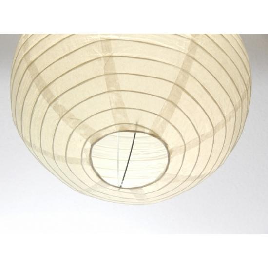 Witte bol lampionnen 50 cm