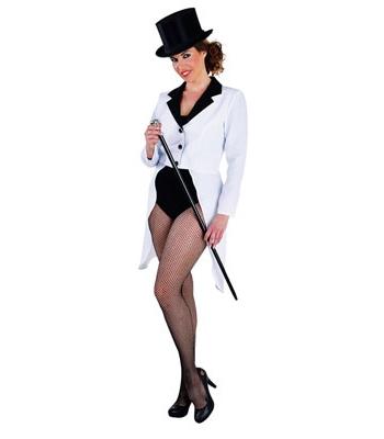 Witte circus jas voor dames