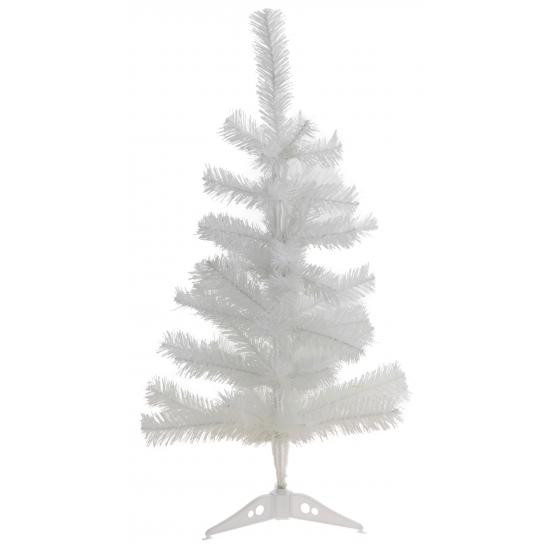 Witte deco kerstboom 60 cm