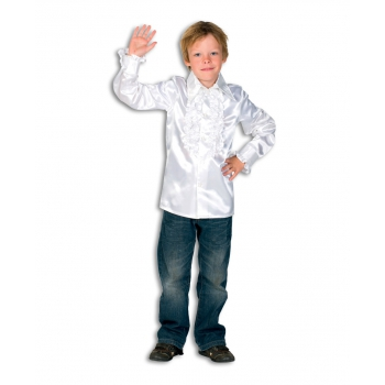 Witte disco blouse voor jongens