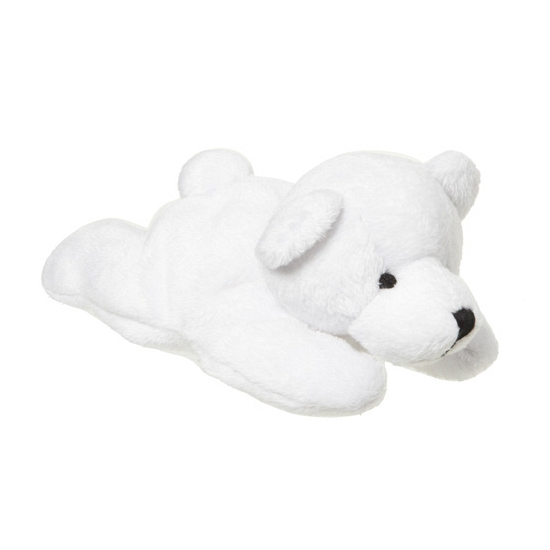 Witte ijsberen knuffel 13 cm