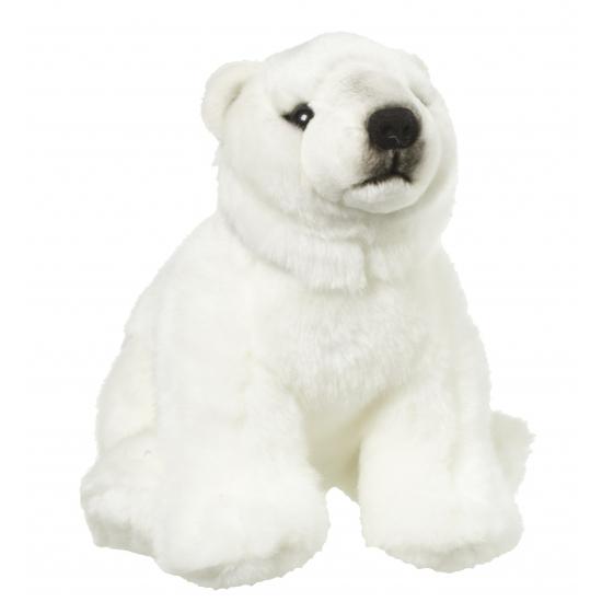 Witte knuffel ijsbeer 22 cm