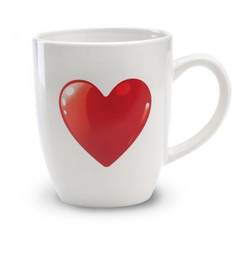 Witte koffie beker met hartje