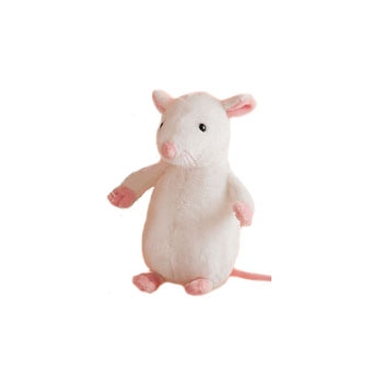 Witte muizen knuffel 20 cm