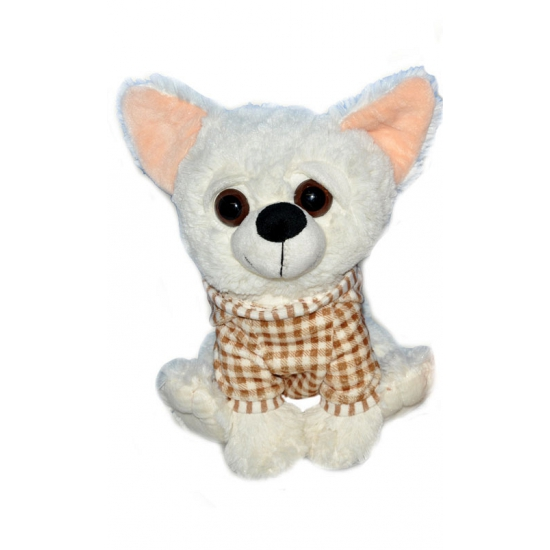 Zachte Chihuahua knuffels wit 25 cm