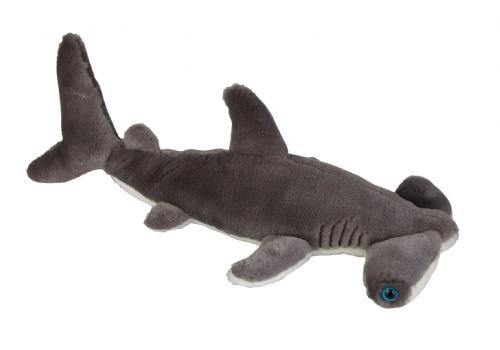 Zachte grijze haaien knuffel 36 cm