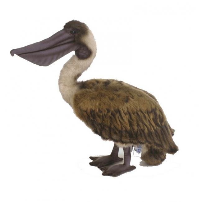 Zachte pelikaan knuffel bruin