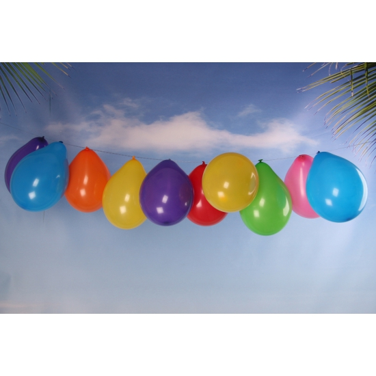 Zakje met 100 gekleurde ballonnetjes