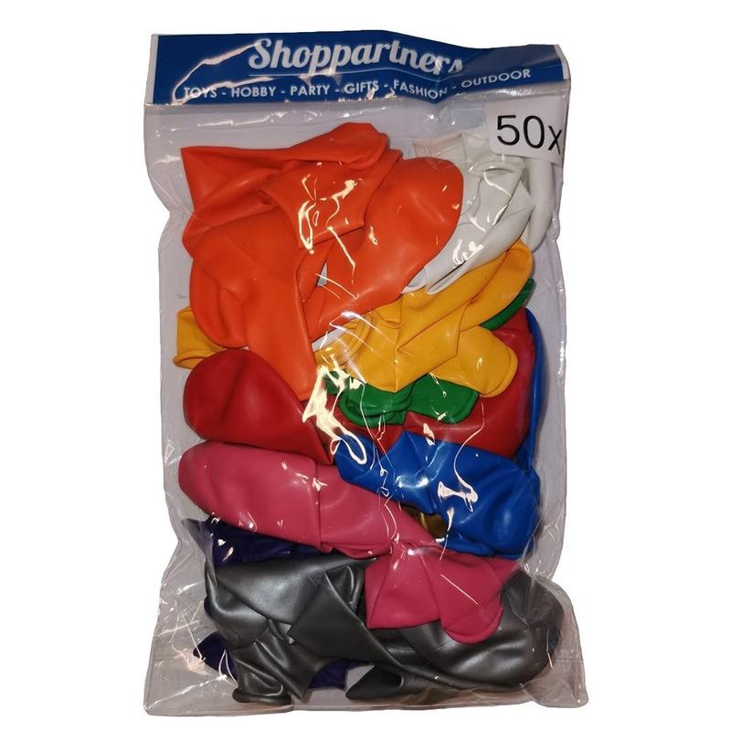 Zakje met 50 gekleurde ballonnetjes